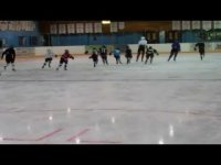 This is the group of 25 skaters we worked with. Ages 6-16 and ability group from beninner to U18 AAA. Our camp has 7 skating and 7 hockey session. Our focus is skating, game sense and puck handling. This narrow focus allows the players to be competent in the foundation skills of the game.